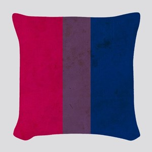 Vintage Bisexual Pride Woven Throw Pillow