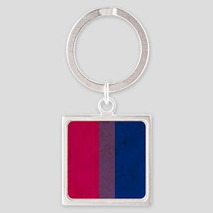 Vintage Bisexual Pride Square Keychain