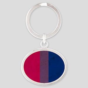 Vintage Bisexual Pride Oval Keychain