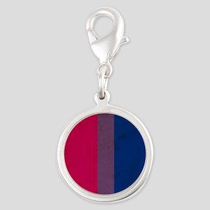 Vintage Bisexual Pride Silver Round Charm