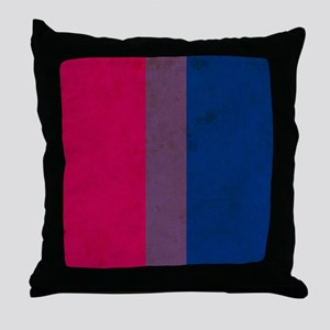 Vintage Bisexual Pride Throw Pillow