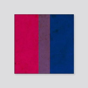 "Vintage Bisexual Pride Square Sticker 3"" x 3"""