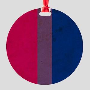 Vintage Bisexual Pride Round Ornament