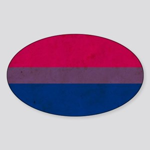 Vintage Bisexual Pride Sticker (Oval)