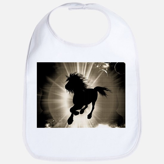 Horse silhouette Bib