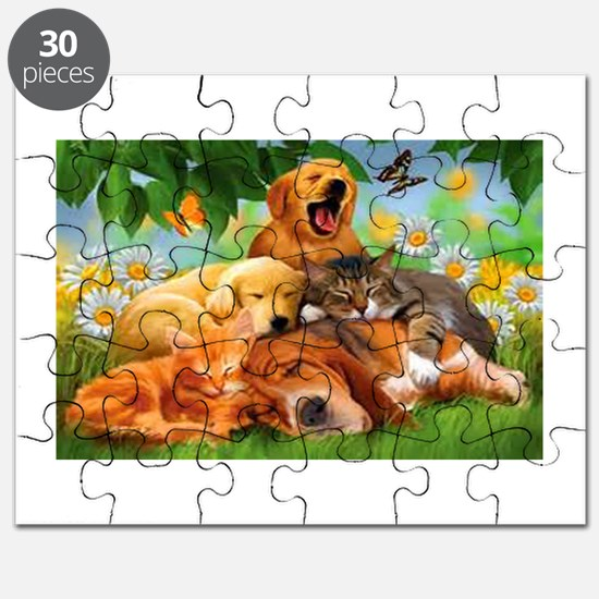 Cute Peace love cats Puzzle