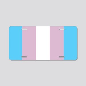 Transgender Pride Flag Aluminum License Plate