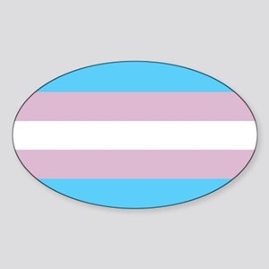 Transgender Pride Flag Sticker (Oval)