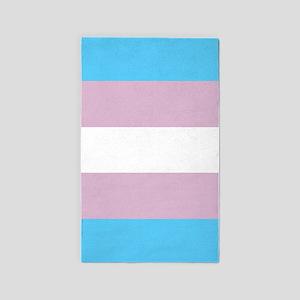 Transgender Pride Flag Area Rug
