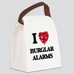 I Love Burglar Alarms Canvas Lunch Bag