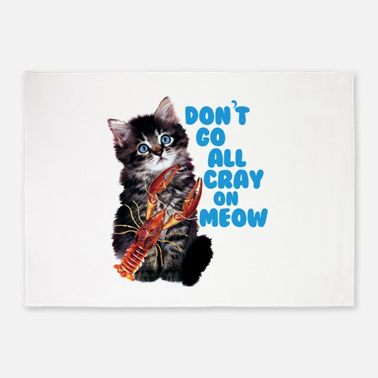 Cray on Meow 5'x7'Area Rug