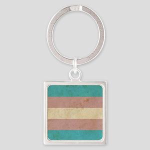 Vintage Transgender Pride Square Keychain