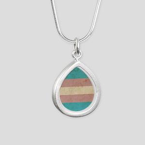 Vintage Transgender Prid Silver Teardrop Necklace
