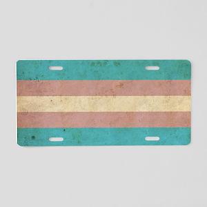 Vintage Transgender Pride Aluminum License Plate