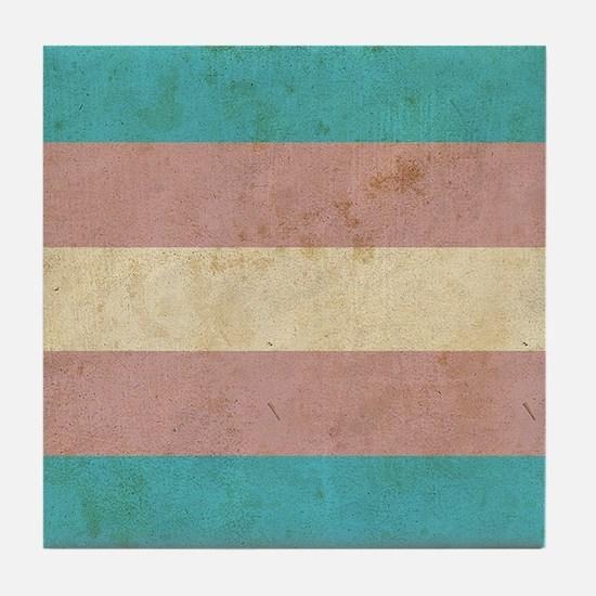 Vintage Transgender Pride Tile Coaster