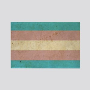 Vintage Transgender Pride Rectangle Magnet