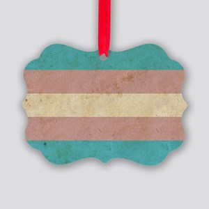 Vintage Transgender Pride Picture Ornament