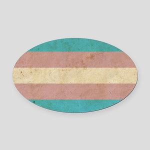 Vintage Transgender Pride Oval Car Magnet