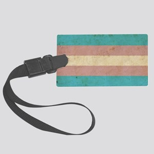 Vintage Transgender Pride Large Luggage Tag