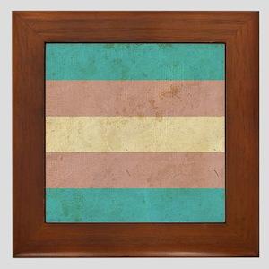 Vintage Transgender Pride Framed Tile