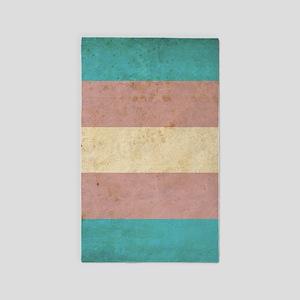 Vintage Transgender Pride Area Rug
