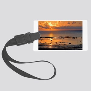 Beach Sunset Large Luggage Tag