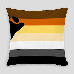 Bear Pride Flag Everyday Pillow