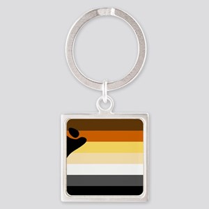 Bear Pride Flag Square Keychain