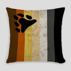 Vintage Bear Pride Flag Everyday Pillow