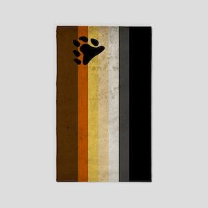Vintage Bear Pride Flag 3'x5' Area Rug
