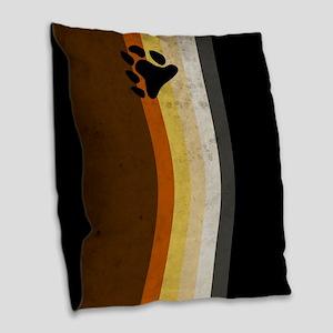 Vintage Bear Pride Flag Burlap Throw Pillow