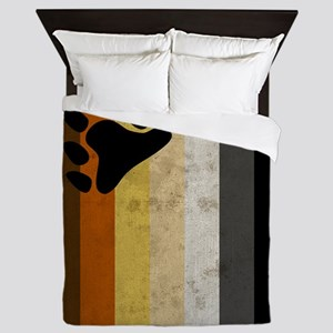 Vintage Bear Pride Flag Queen Duvet