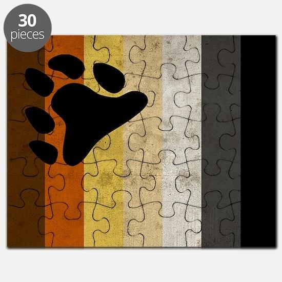 Vintage Bear Pride Flag Puzzle