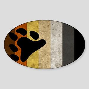 Vintage Bear Pride Flag Sticker (Oval)