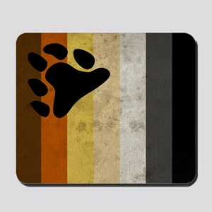 Vintage Bear Pride Flag Mousepad