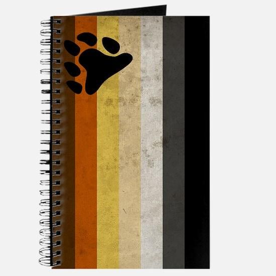 Vintage Bear Pride Flag Journal