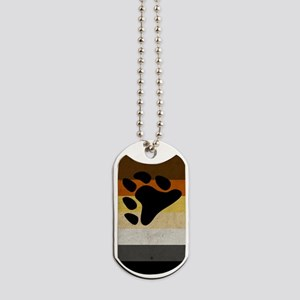 Vintage Bear Pride Flag Dog Tags