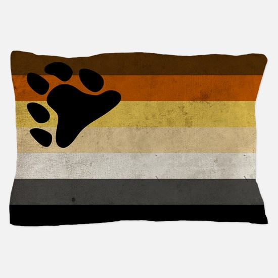 Vintage Bear Pride Flag Pillow Case