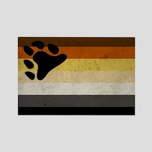 Vintage Bear Pride Flag Rectangle Magnet