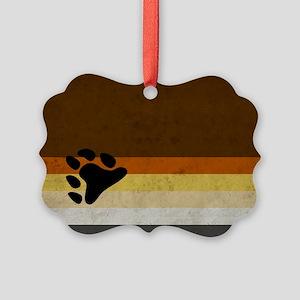 Vintage Bear Pride Flag Picture Ornament
