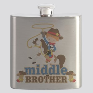 Cowboy Middle Brother Flask