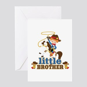 Cowboy Little Brother Greeting Card
