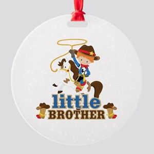 Cowboy Little Brother Round Ornament