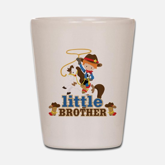 Cowboy Little Brother Shot Glass