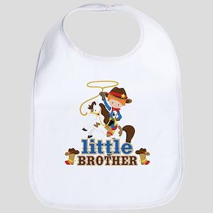 Cowboy Little Brother Bib