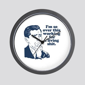 So Over It Wall Clock