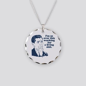 So Over It Necklace Circle Charm
