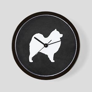 Samoyed Silhouette Wall Clock