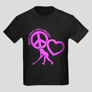 P,L,FIELD HOCKEY Kids Dark T-Shirt