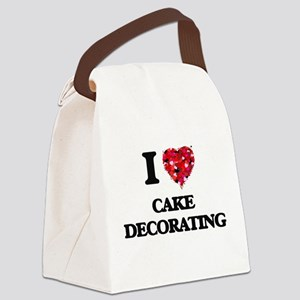 I love Cake Decorating Canvas Lunch Bag